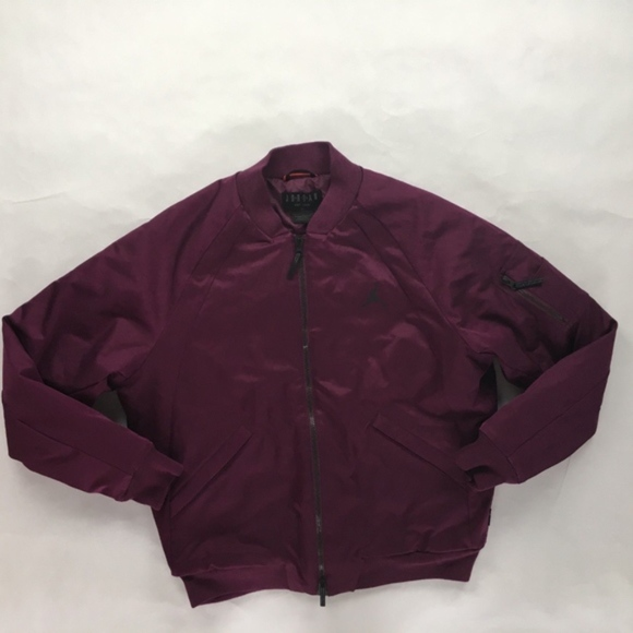 b0035fffcf0f07 Nike Air Jordan Wings MA-1 Bomber Jacket Bordeaux